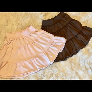 Old Navy Ruffle Skirts. Light Pink and Brown.
